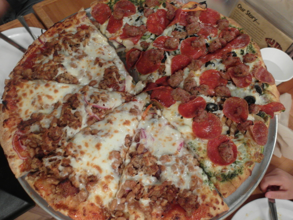 Mixed Pizza at Wild West Pizzeria and Saloon West Yellowstone