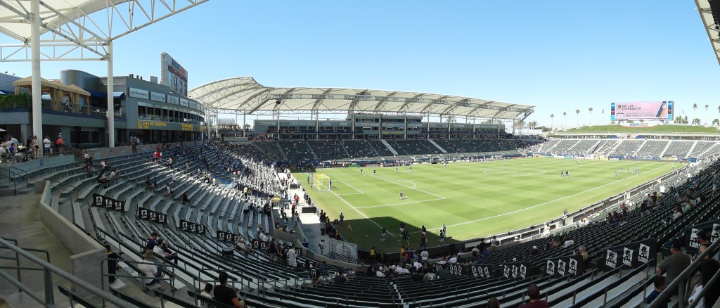 Panoramic view of StubHub Center Home of LA Galaxy