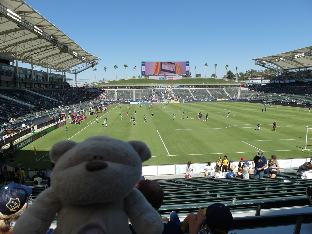 Where we sat (LA Galaxy StubHub Center)