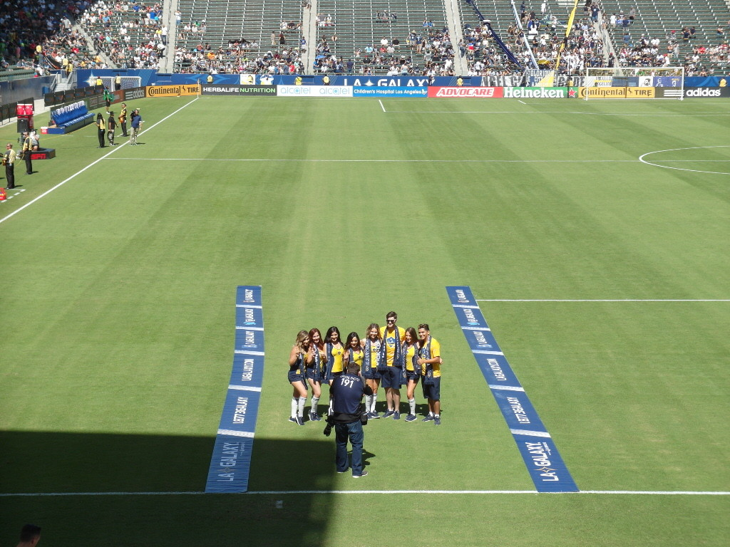 Prior to players entering (LA Galaxy vs Seattle Sounders StubHub Center)