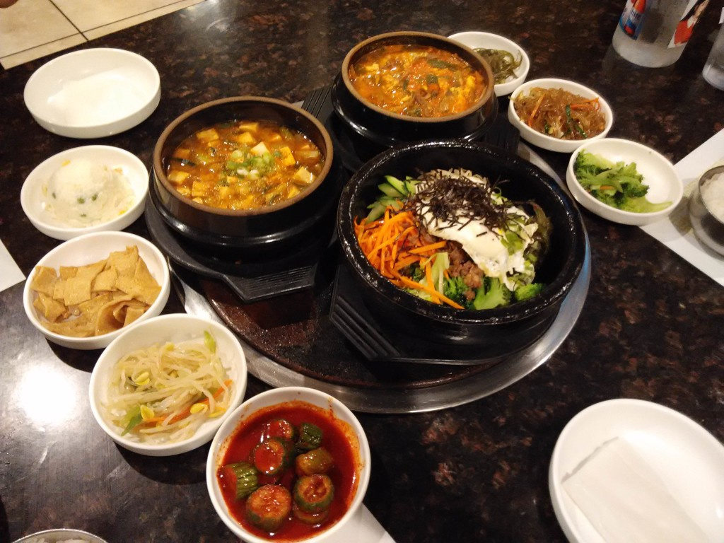Side Dishes at Cham Soot Gol Buena Park