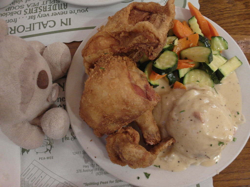 Fried Chicken @ Pea Soup Andersen's Solvang