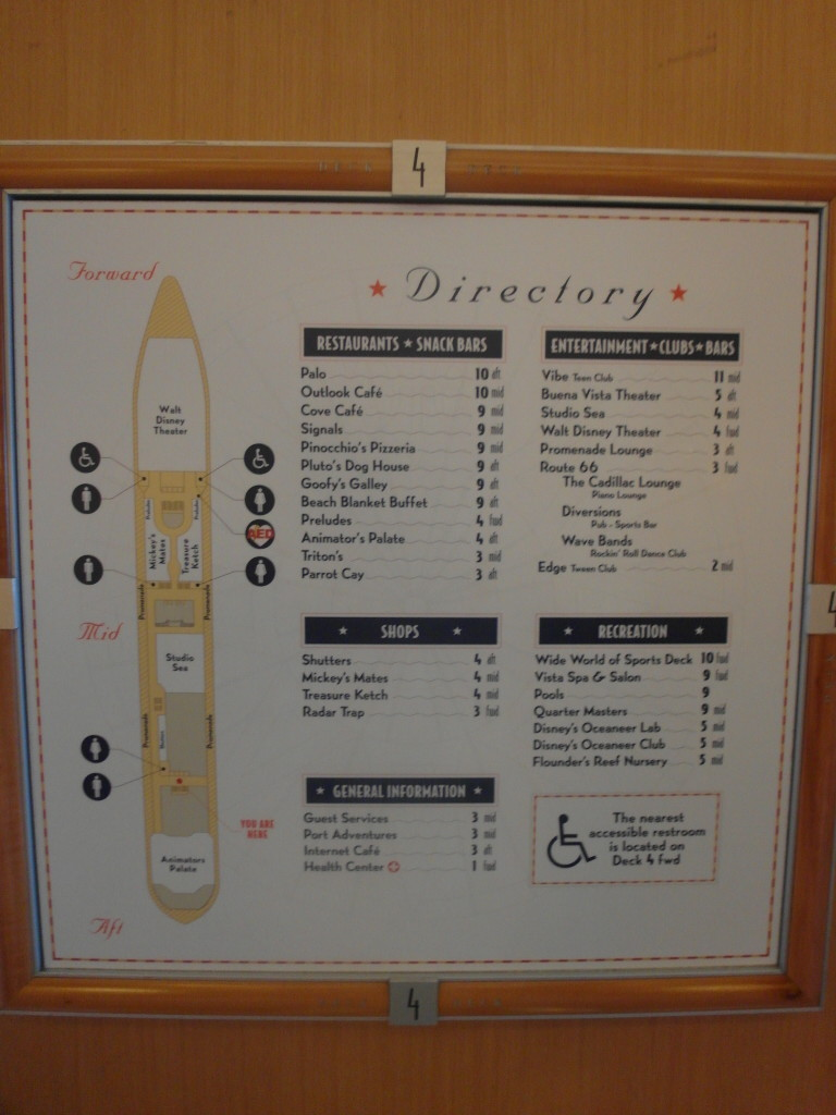 Deck 4 Disney Wonder Disney Cruise Line