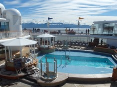 Adult's Pool at Quiet Cove Disney Wonder Disney Cruise Alaska