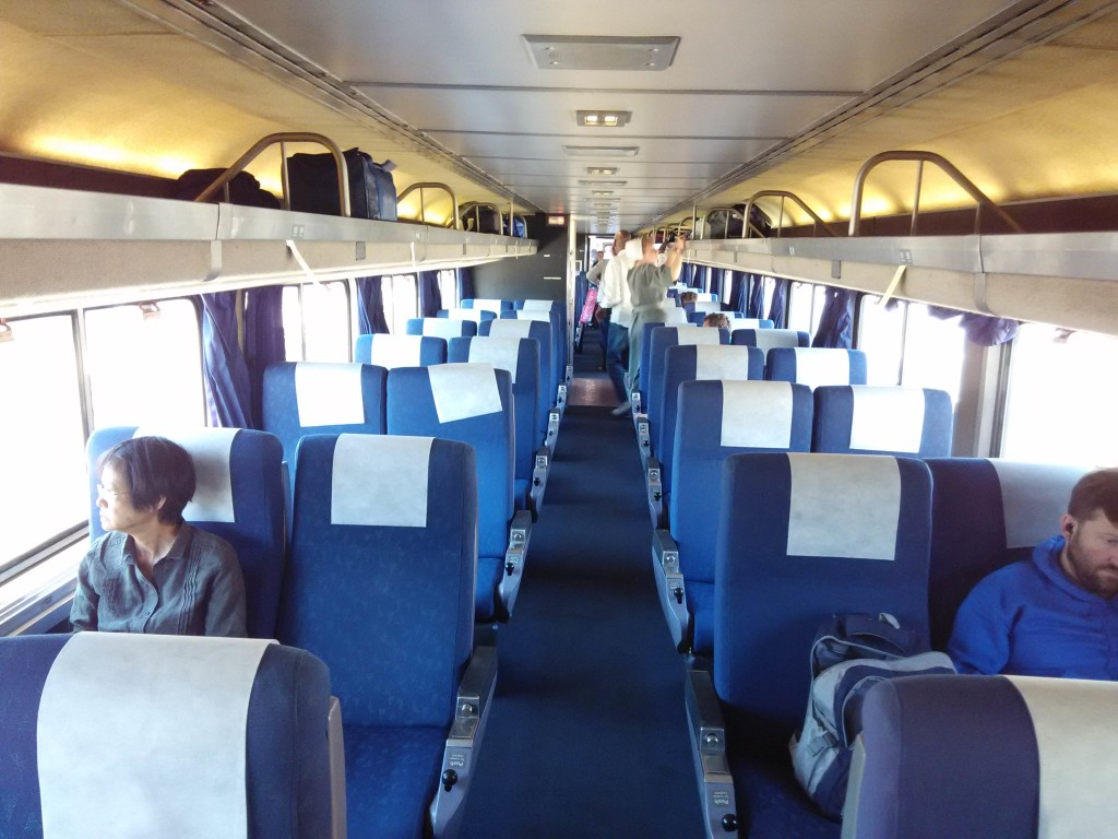 Coach Seats California Zephyr Amtrak