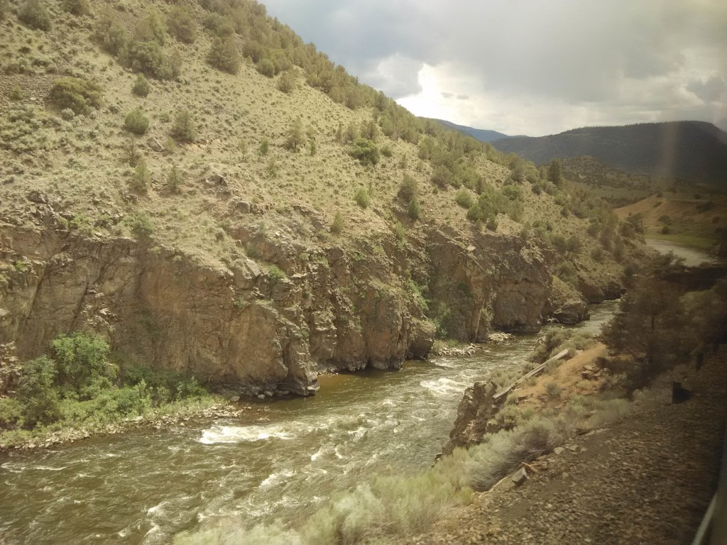 California Zephyr Scenery - Rushing River