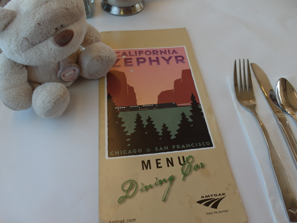 California Zephyr Dining Car Menu