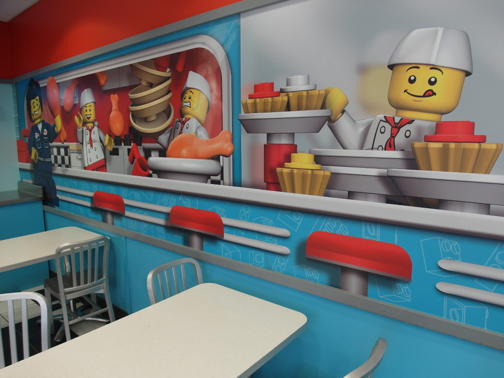 Inside Fried Chicken Restaurant Legoland Florida