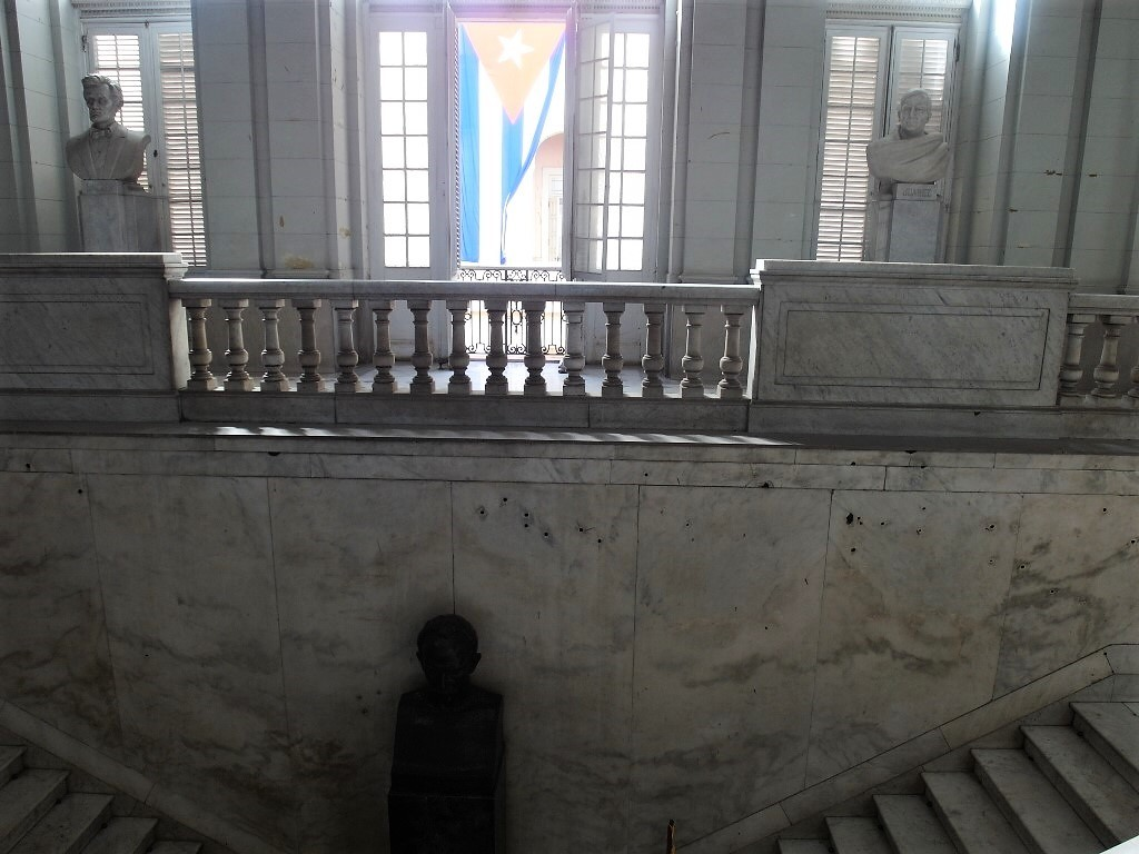 Bullet Marks on Walls in Museum of the Revolution Havana