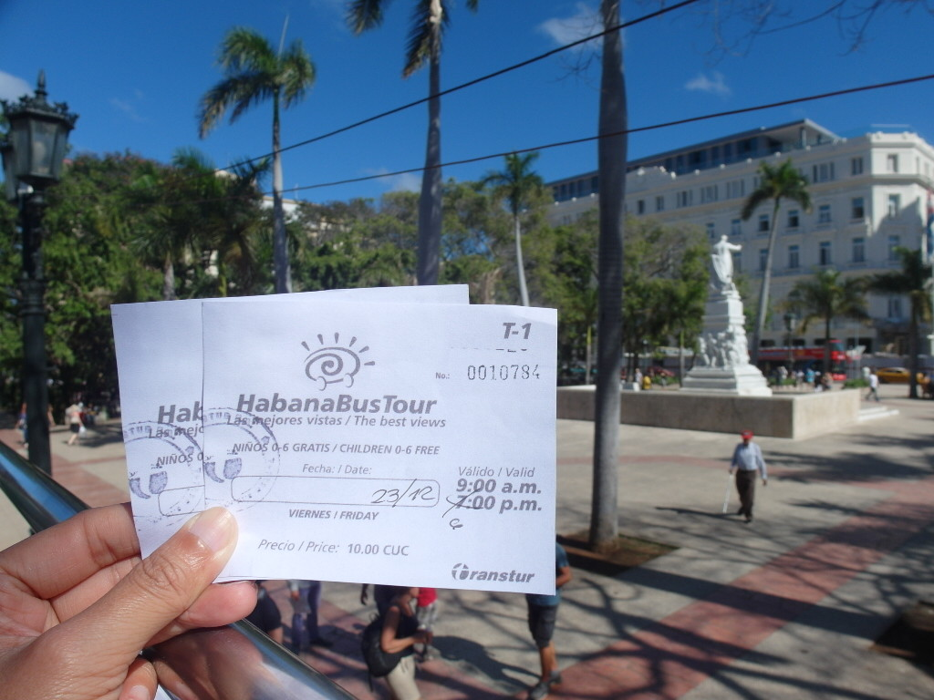 Tickets for Open Top Tour Bus Havana 10 CUC