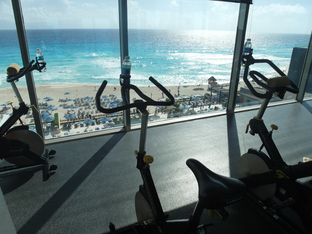 Gym with a view