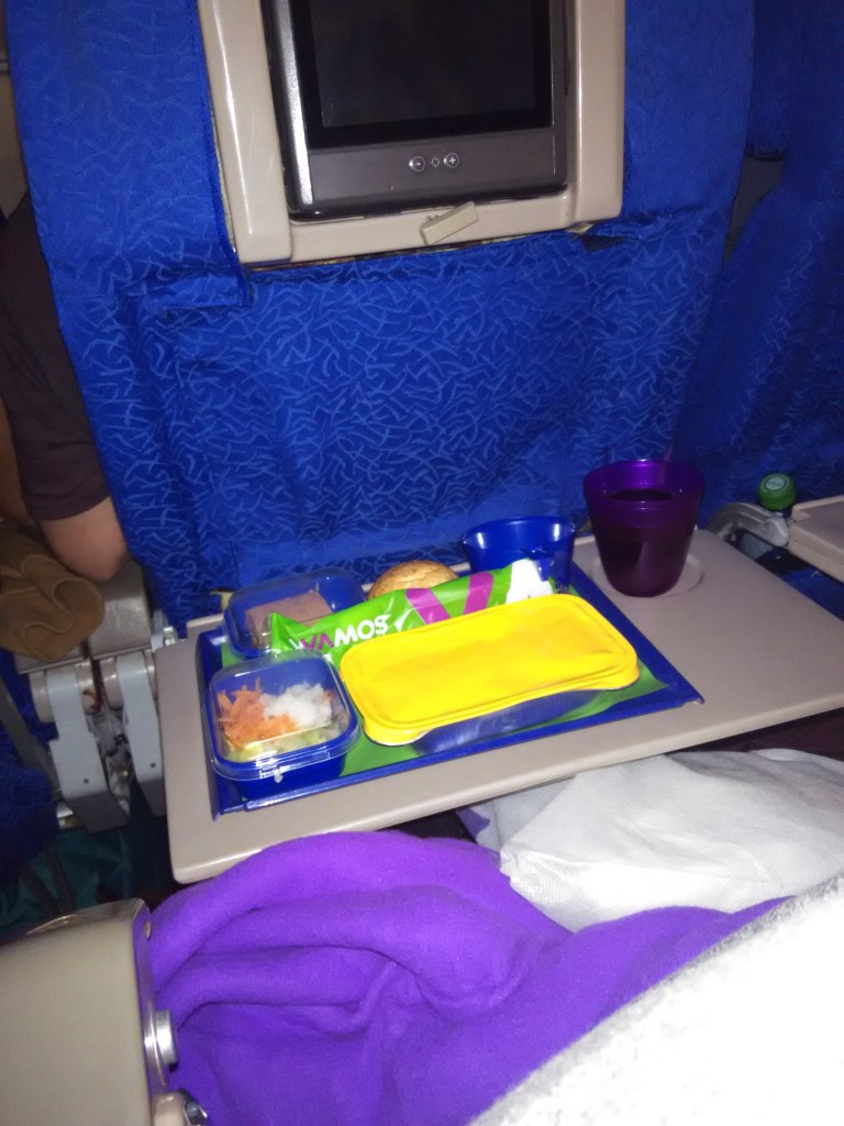 Wamos Air 2nd meal Cancun to Madrid