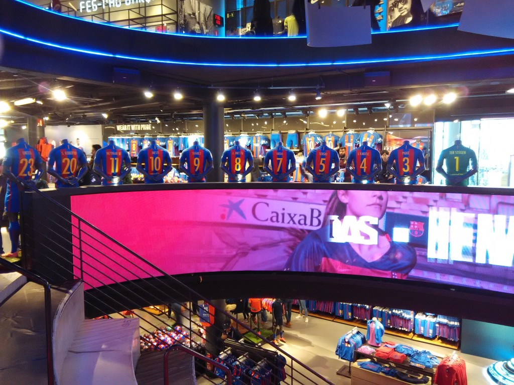 FC Barcelona Official Store at Camp Nou Jersey & Names