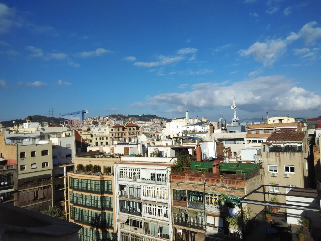 Amazing views of Barcelona from Roof Top Terrace of La Pedrera