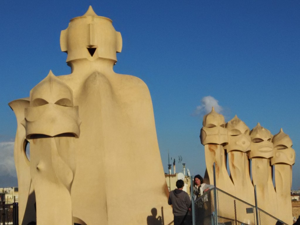 Structures at Roof Top of La Pedrera