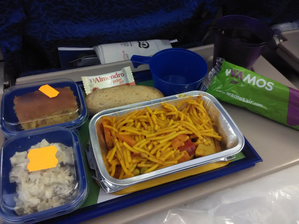 Wamos Air Dinner from Cancun to Madrid