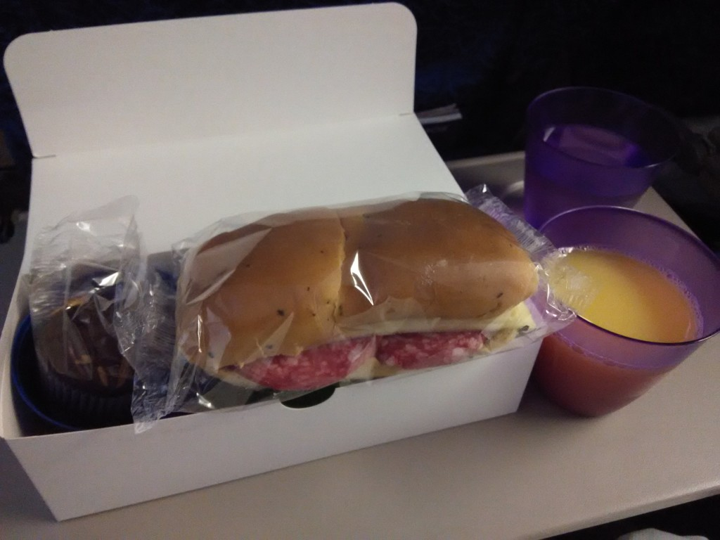 Food on Wamos Air from Madrid to Cancun