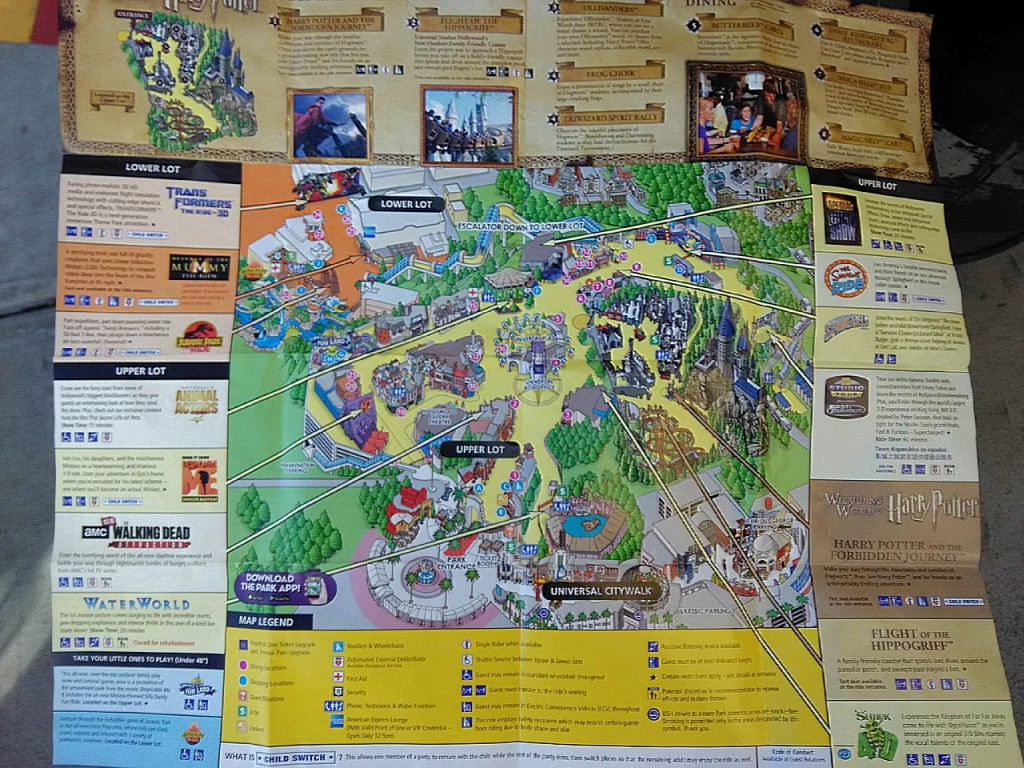 Latest Map of Universal Studios Hollywood