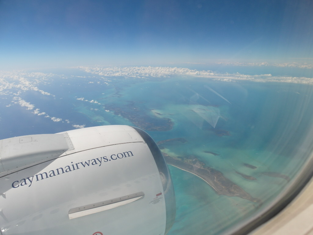 Departing from Cayman Islands to Cuba