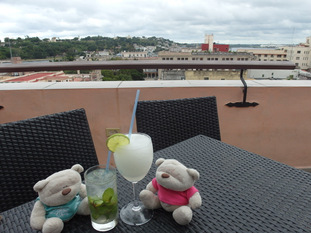 2bearbear enjoying views of Havana with Mojito & Daiquiri