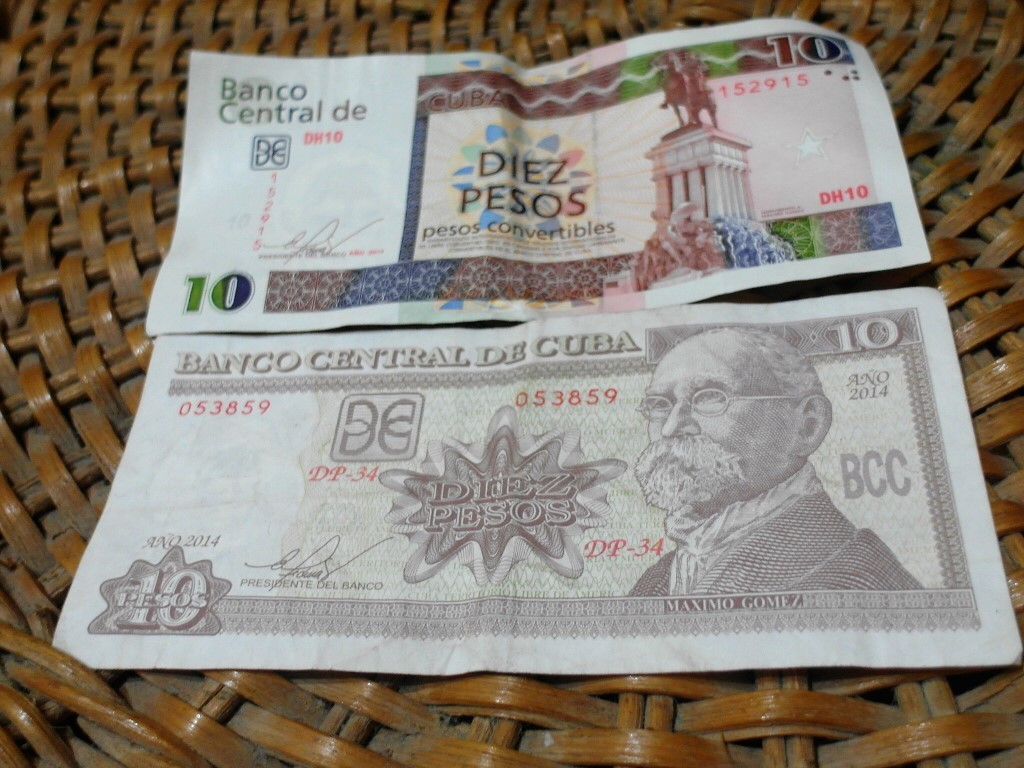 Cuban Covertibles (CUC) and Cuban Pesos (CUP)