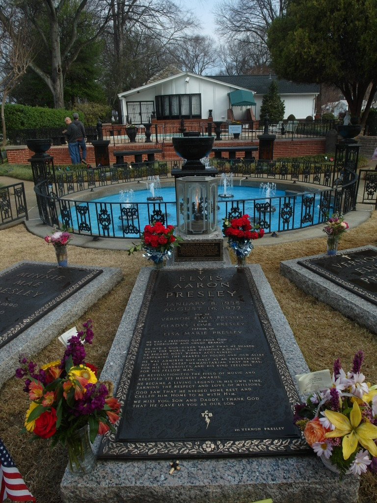 Elvis' grave at Graceland's Meditation Garden