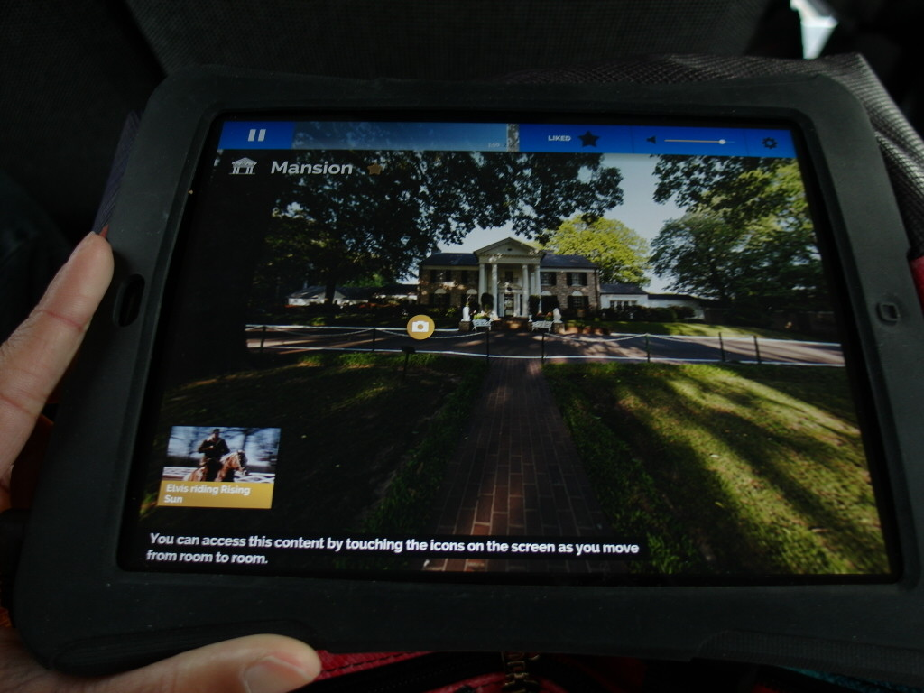 Interactive iPad for self guided tours at Graceland