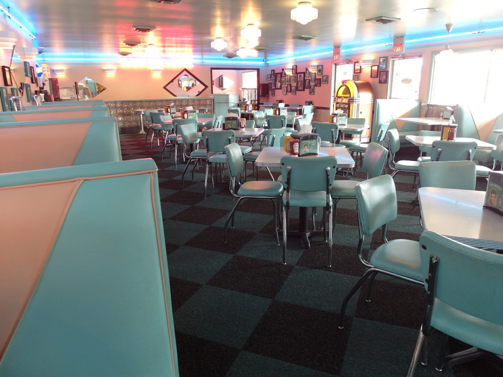 Inside Rockabilly's Burger Shop at Graceland Memphis