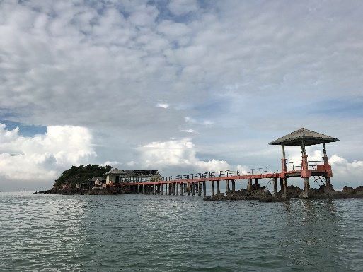 Nearby island from Sasaran Beach Selangor
