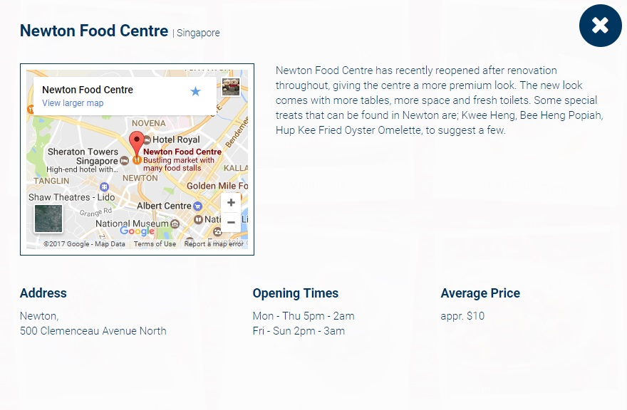 Expedia Food Guide City Singapore Newton Food Centre