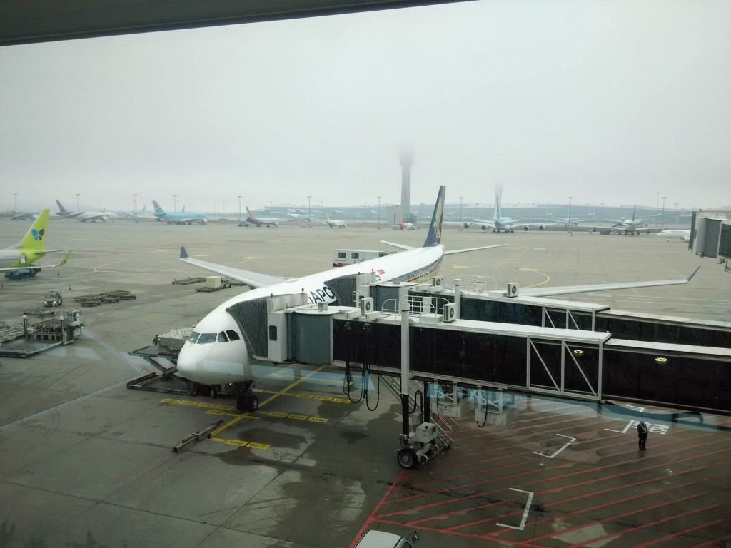 SQ Flight from Incheon Airport to Singapore