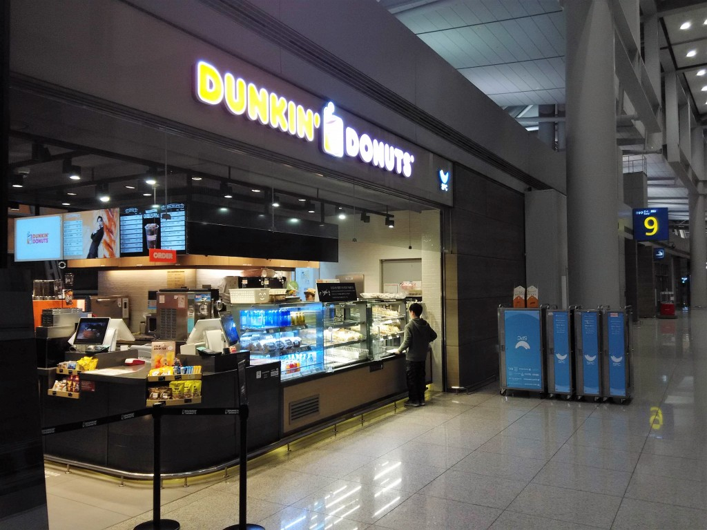 24 hours Dunkin Donuts Incheon Airport Air Side