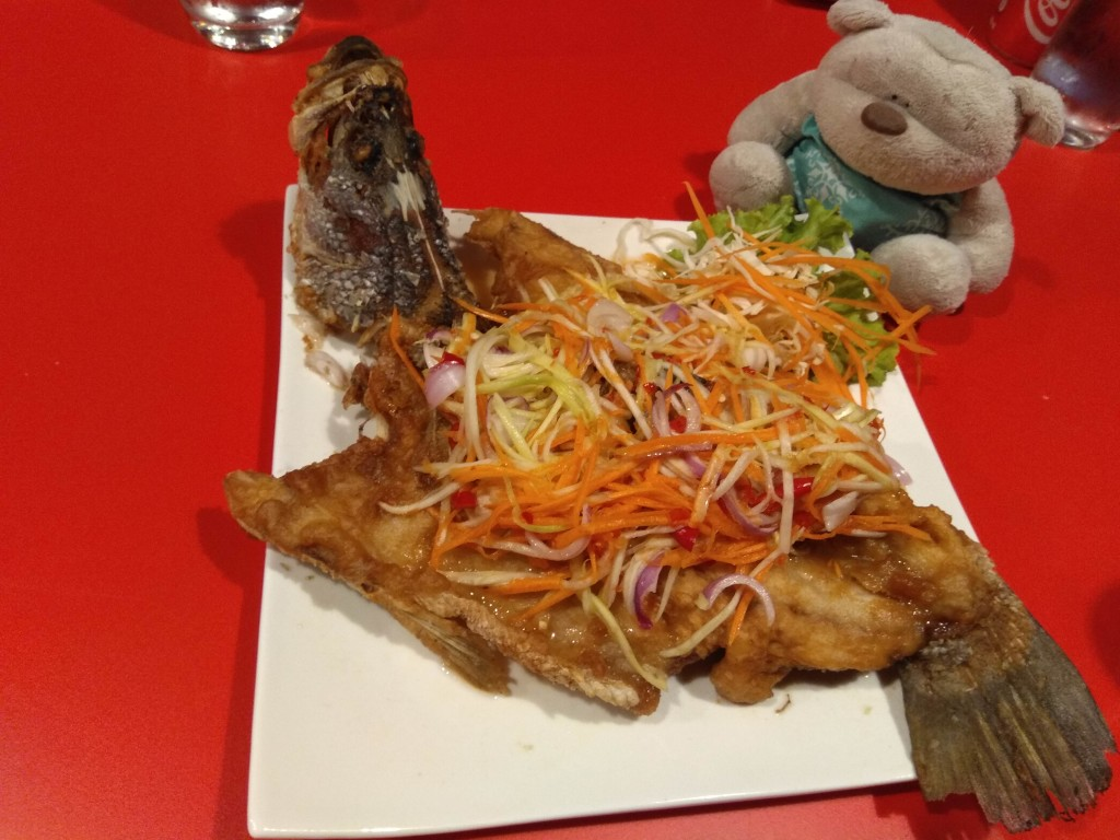 Deep Fried Seabass with Mango Salad