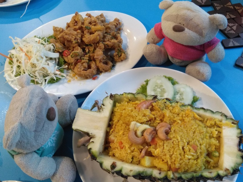 Pineapple Fried Rice & Salted Egg Yolk Calamari
