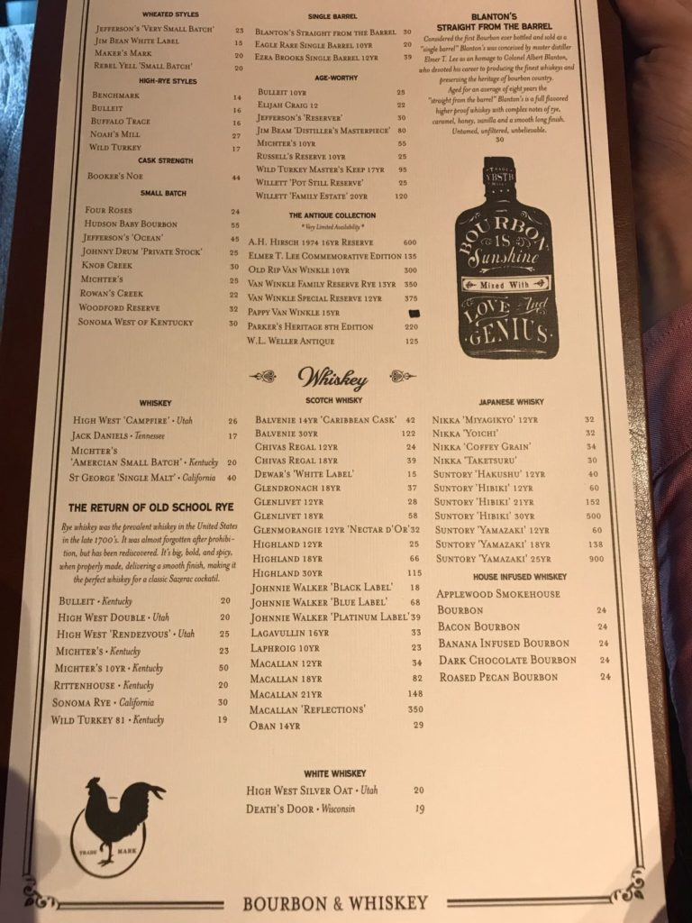 Whisky and Bourbon Selection of the Bird MBS