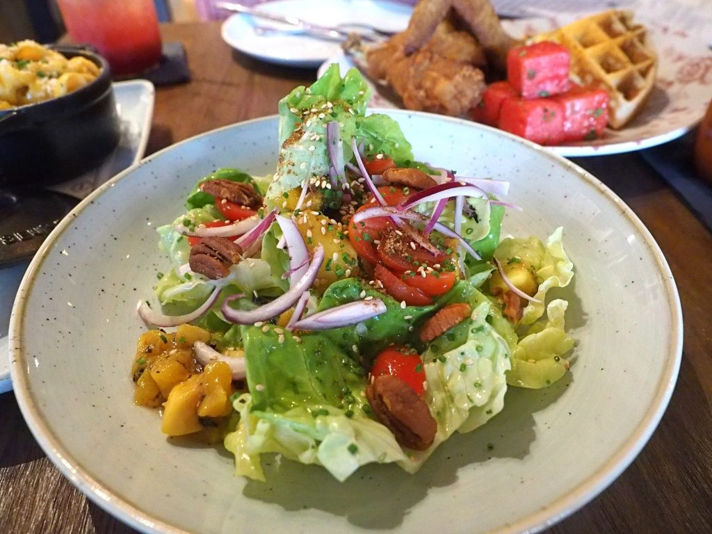 Butter Lettuce and Grilled Mango Salad ($18)