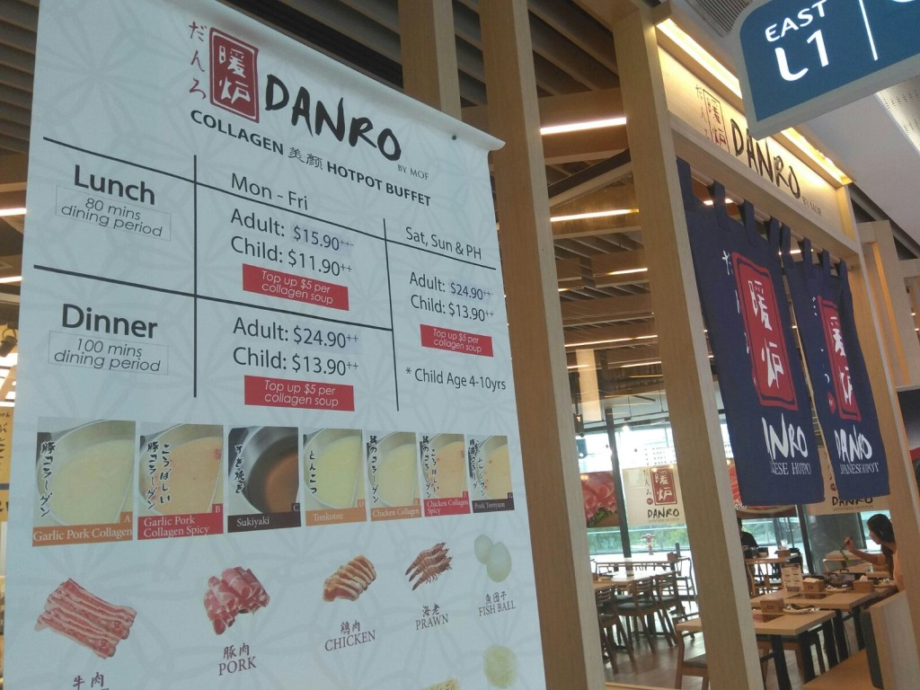 Prices of Danro Collagen Japanese Hotpot Buffet