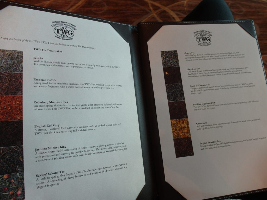 The Private Room Selection of Premium TWG Teas