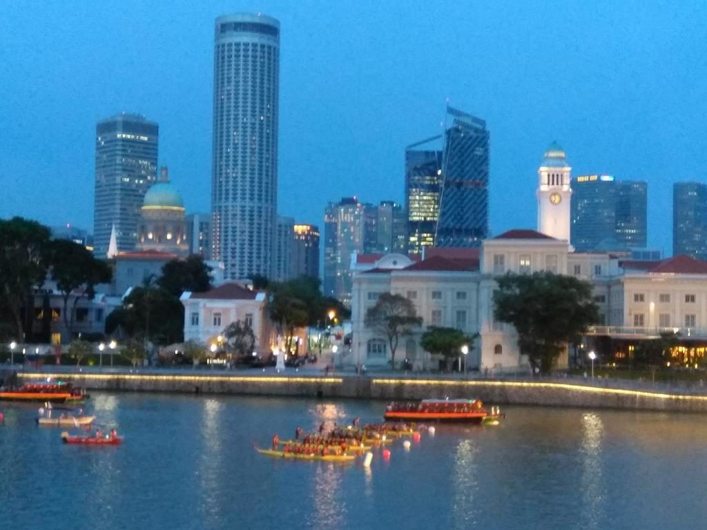 Panoramic Views of Singapore River from Panorama Riverside Lounge @ Boat Quay