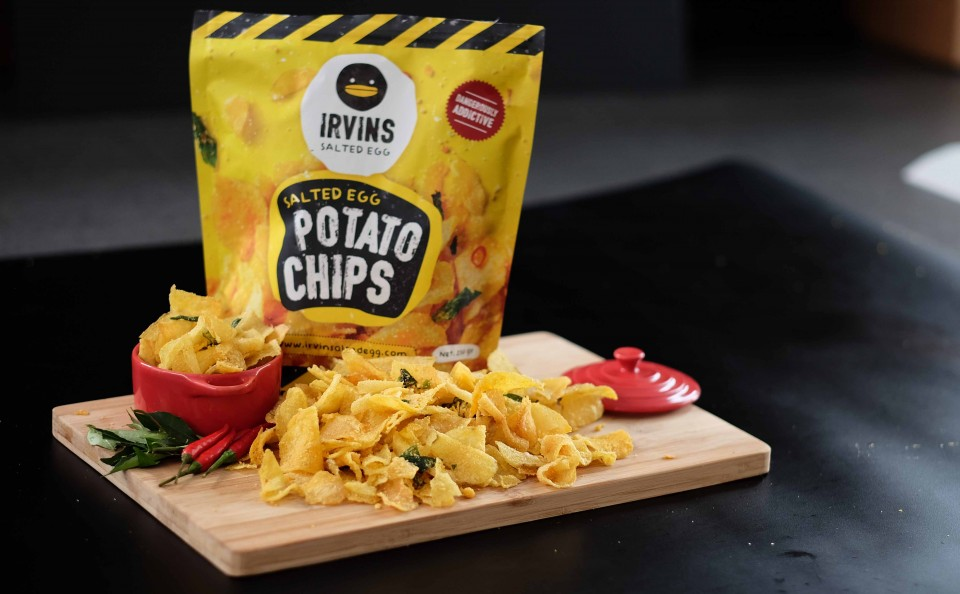 Irvin's Salted Egg Yolk Potato Chips - Another Popular Singapore Souvenir