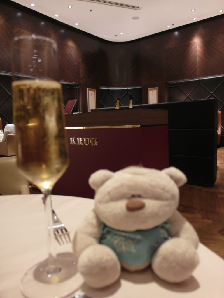 Krug served during dinner in the Private Room!