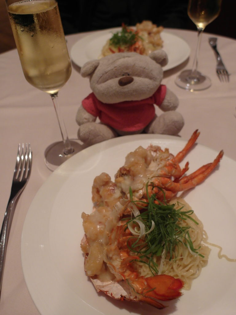 SQ The Private Room: Wok Fried Lobster with Braised Wanton Noodles with Krug Champagne