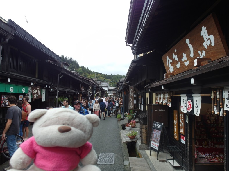 Crowded preservation streets of Takayama