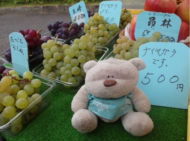 Tasty Champagne Grapes @ Jinya-Mae Morning Market (陣屋前朝市) Takayama